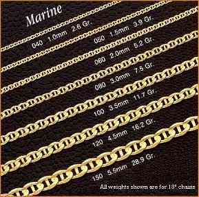 14K GOLD MARINE CHAINS